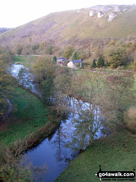 The River Wye from Monsal Head Viaduct. Walk route map d270 Monsal Head, Monsal Dale and Deep Dale from Ashford in the Water photo