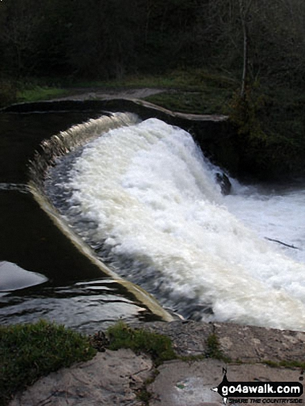 Monsal Dale Weir. Walk route map d206 Monsal Dale and Ashford in the Water from Bakewell photo