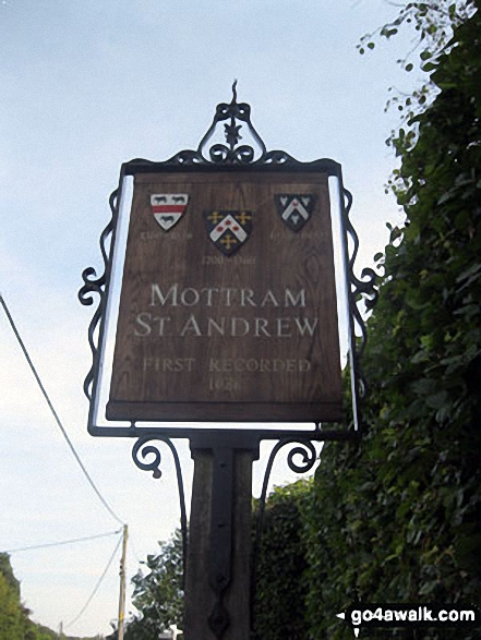 Village sign in Mottram St Andrew