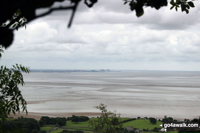 Looking South across Morecambe Bay towards Morecambe itself from Arnside Knott