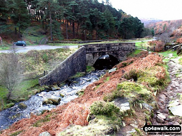 Cutthroat Bridge at the confluence of Highshaw Clough and Ladybower Brook