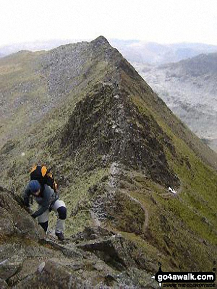 Starting the climb from Striding Edge up onto Helvellyn