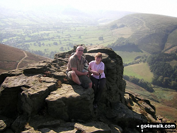On Ringing Roger (Kinder Scout) with the Edale Valley beyond