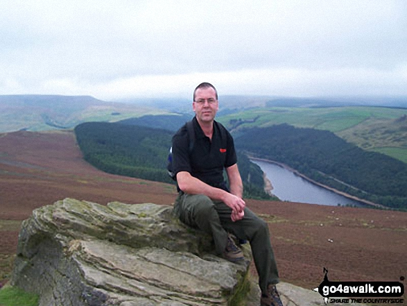 Me on Winhill Pike (Win Hill) with Ladybower Reservoir in the background