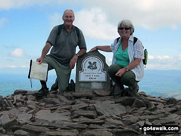 Me (70) and Carole (65) on Pen y Fan 2 days after our 45th Wedding Anniversary