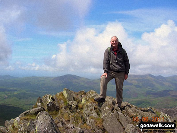 Terry on the summit of Cnicht