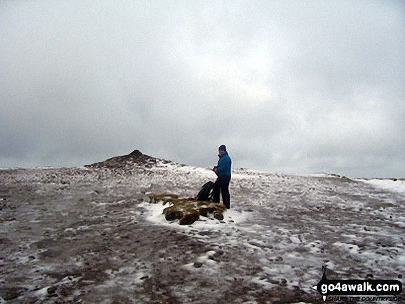 On a snowy Pen y Fan