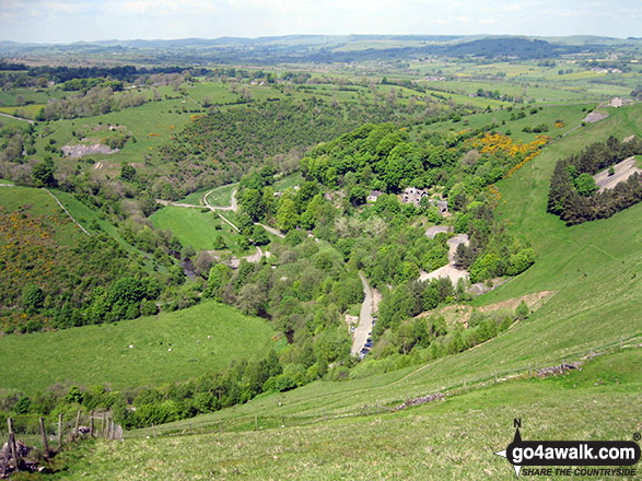 The Manifold Valley and the Manifold Way from Ecton Hill