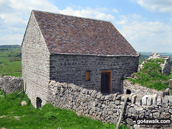 Stone barn on Ecton Hill