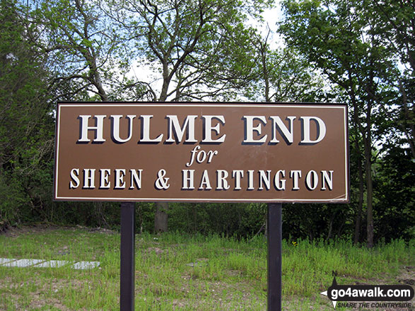 Sign for Hulme End Railway Station near Hulme End Visitor Centre