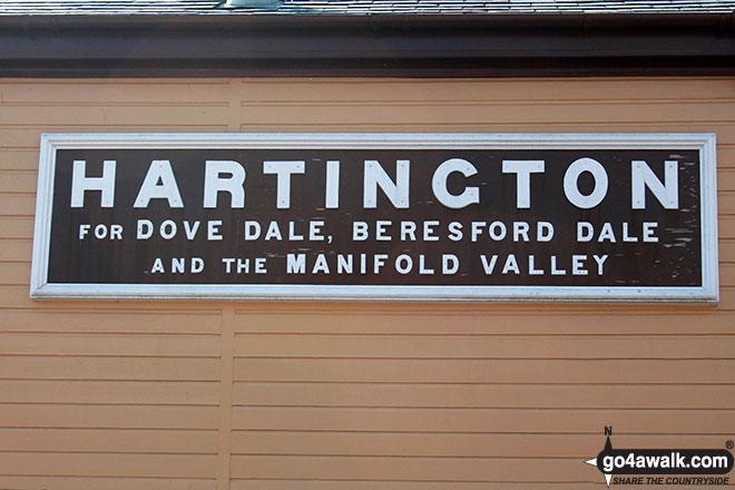 Hartington nameplate on the former Signal Box at Hartington Station