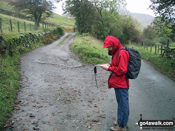 Checking the route near Orthwaite