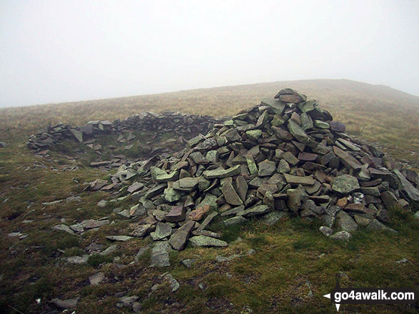 The summit cairn on Little Sca Fell