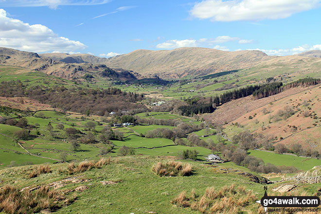 The Kentmere Fells from the summit of High Knott (Williamson's Monument)