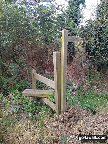 Stile on Thorpe Road giving access to Thorpe Marches