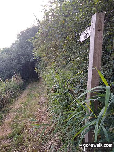 Finger post near Marsh Farm