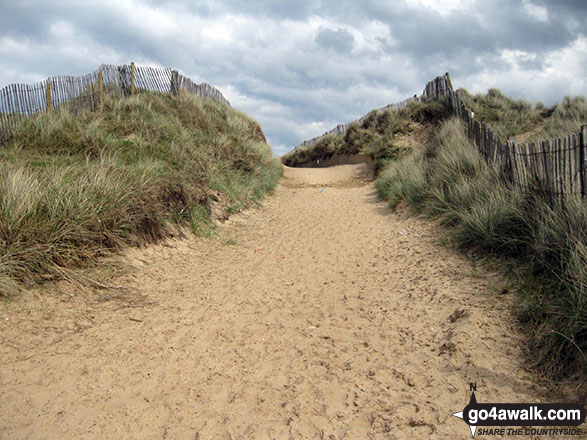 Path through the dunes in Winterton Dunes National Nature Reserve