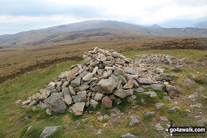 The large cairn on the summit of High Tove summit