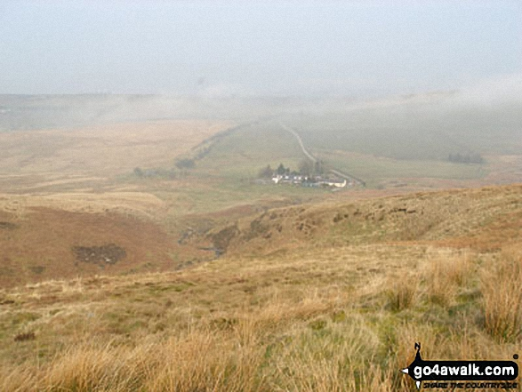 Howgill Cottages from Tindale Fells