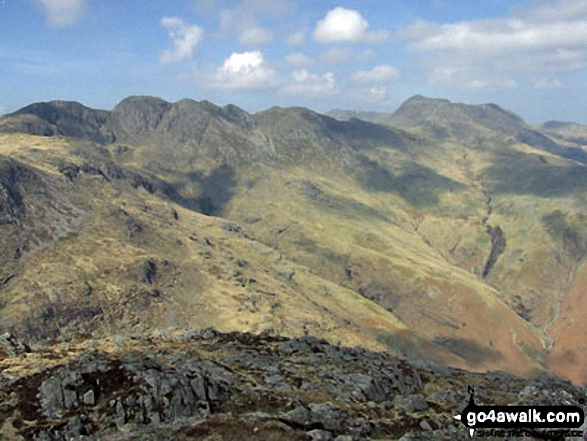 Crinkle Crags and Bow Fell (Bowfell) from Pike of Blisco (Pike o' Blisco)