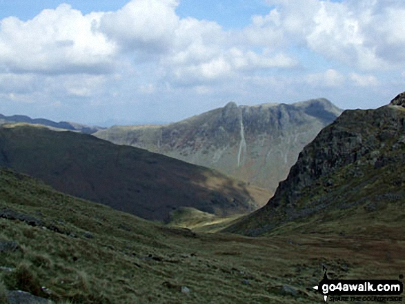 The Langdale Pikes from near Red Tarn (Langdale)