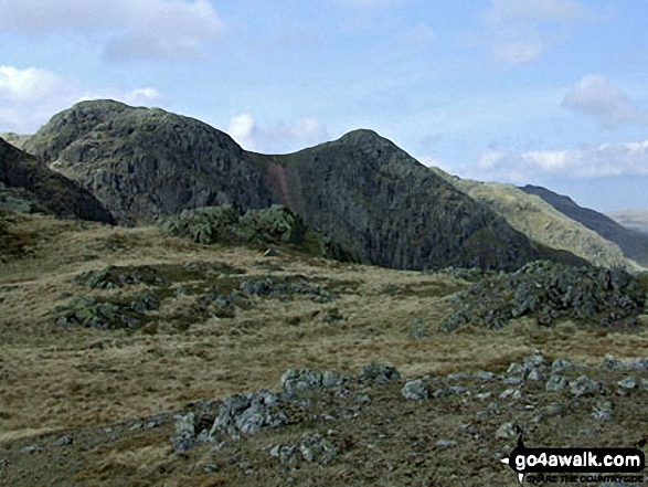 Walk c108 Crinkle Crags from The Old Dungeon Ghyll, Great Langdale - Crinkle Crags from Great Knott