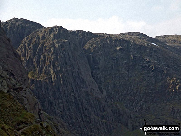 Bowfell Buttress from The Climbers' Traverse below Bow Fell (Bowfell)