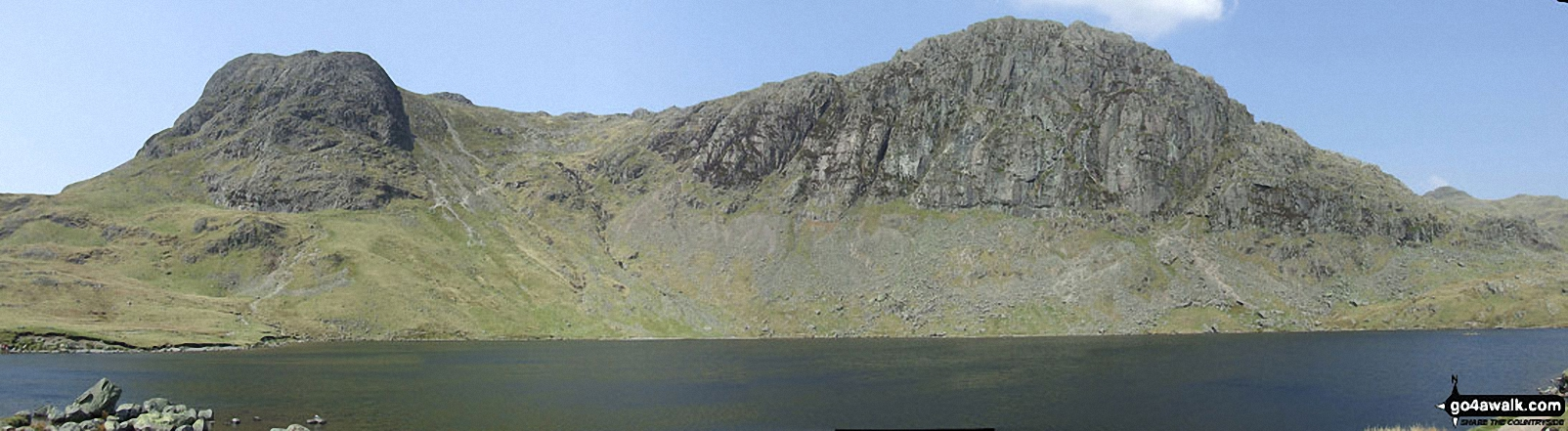*Harrison Stickle and Pavey Ark (The Langdale Pikes) from Stickle Tarn