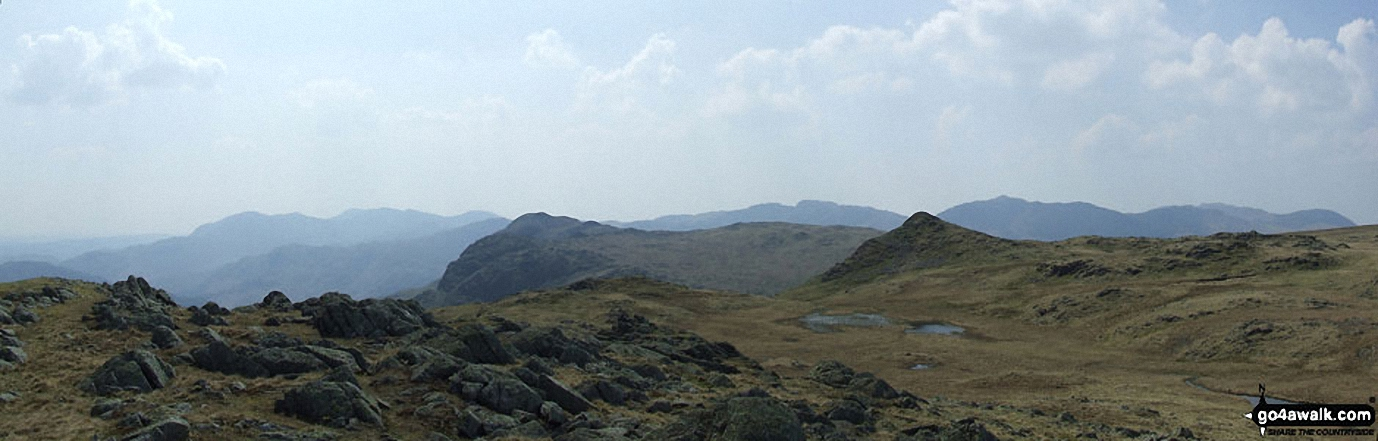 *The view from Codadle Head featuring Pavey Ark (The Langdale Pikes) (centre left) and Sergeant Man (centre right)