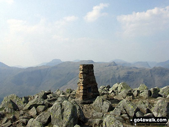 The High Raise (Langdale) summit trig point