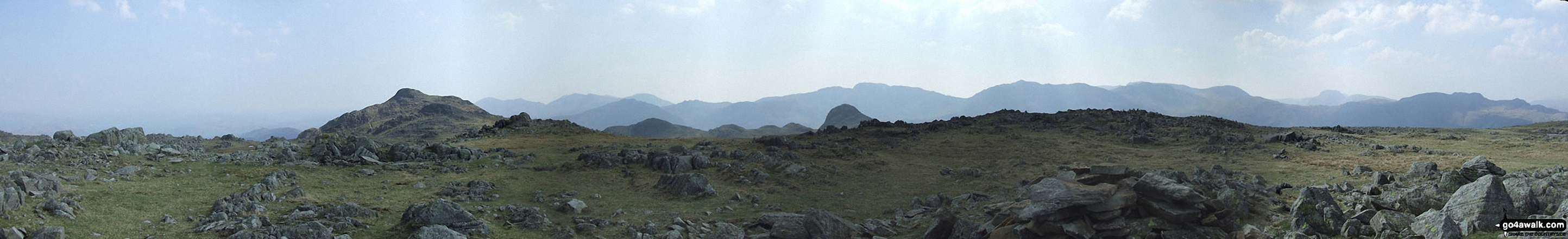 *Harrison Stickle (left) and Pike of Stickle (right) and the Langdale Pikes Plateau from Thunacar Knott