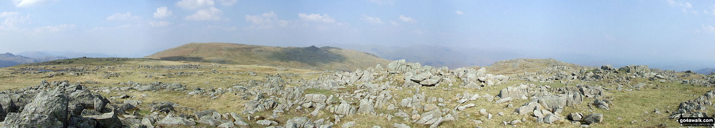 *High Raise (Langdale) and Seargent Man (dark pimple left of centre) and Codale Head from Thunacar Knott