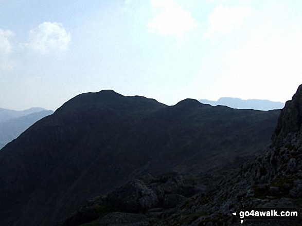Harrison Stickle in silhouette from Pavey Ark (Langdale Pikes)