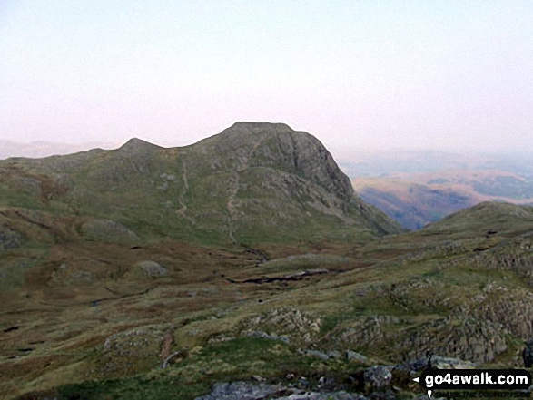 Walk The Langdale Pikes walking UK Mountains in The Central Fells The Lake District National Park Cumbria    England