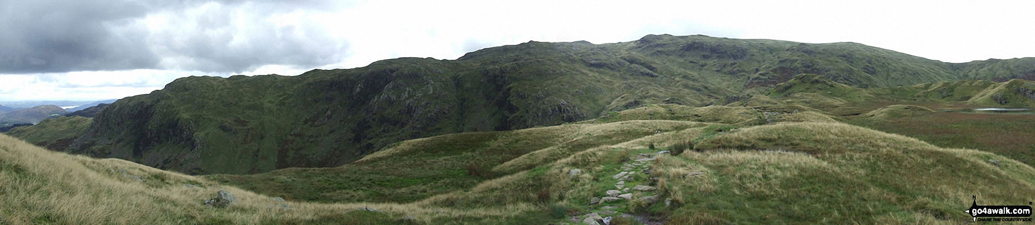 Broadstone Head, Ferngill Crag and Deer Bields from Brownrigg Moss