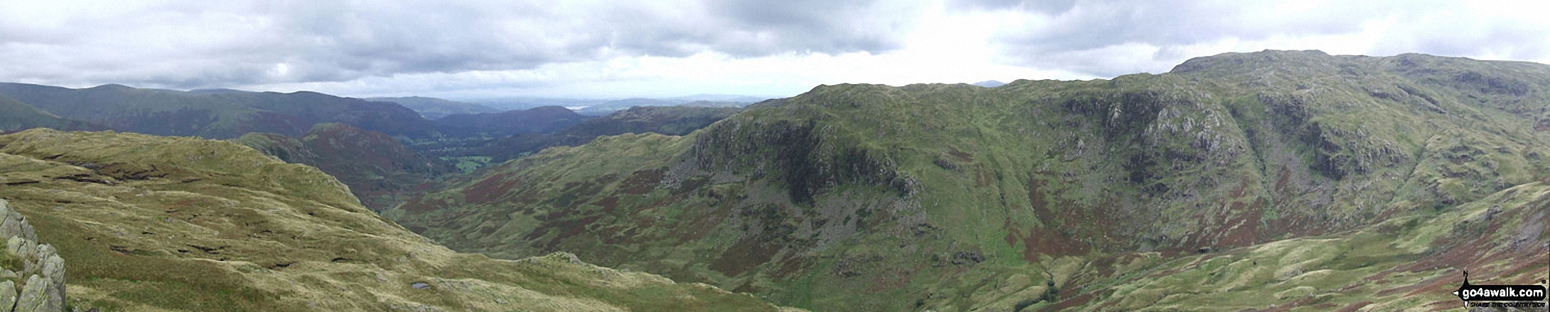 Deer Bields, Ferngill Crag and Broadstone Head from Calf Crag
