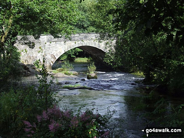 Skelwith Bridge. Walk route map c165 Little Langdale from Elterwater photo