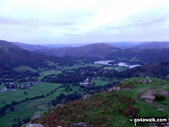 Loughrigg Fell and Grasmere from Helm Crag summit