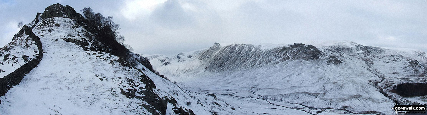 Swine Crag, Riggendale, Kidsty Pike and Kidsty Howes in the snow