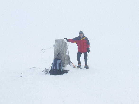 Me on the summit of High Street in the snow