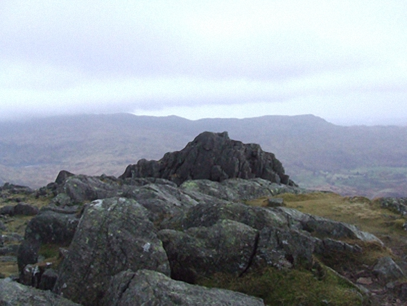 On the summit of Harter Fell (Eskdale)