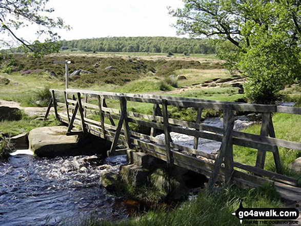 Bridge across Burbage Brook, Longshaw Country Park