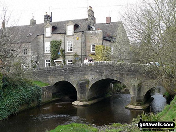 Bridge over The River Derwent, Baslow Village