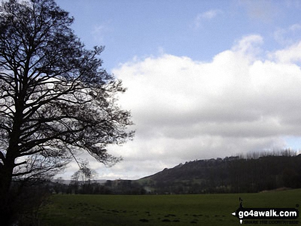Looking North back towards Bakewell from nr Haddon Hall