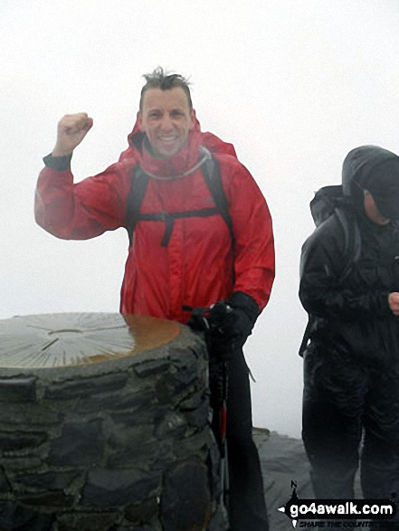Me at the top of Snowdon (Yr Wyddfa) as part of my 3 Peaks Challenge