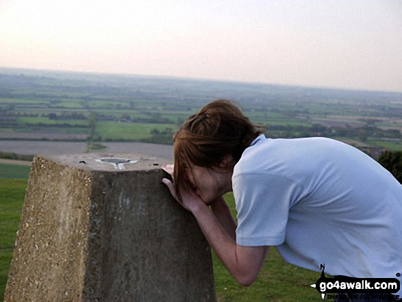My mate on top of Ivinghoe Beacon