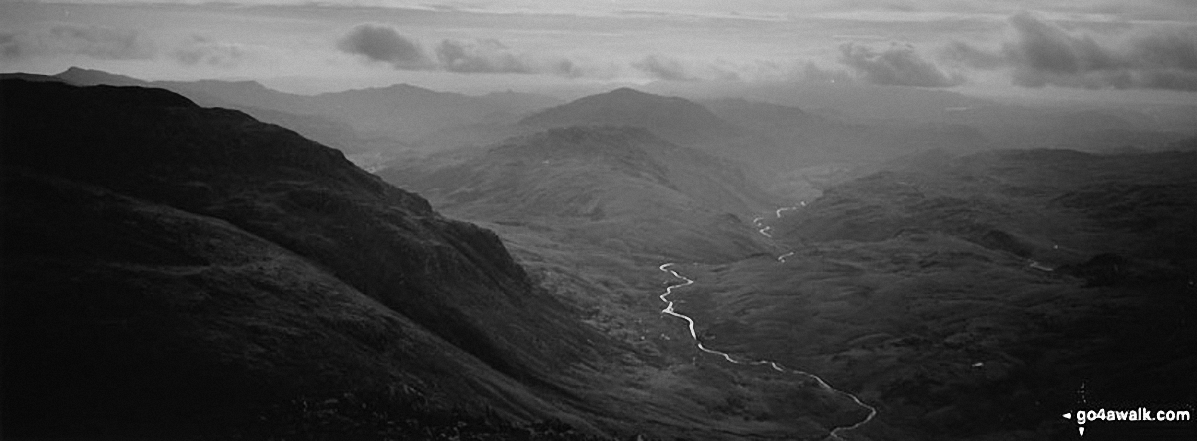 North from the summit of Bow Fell (Bowfell)