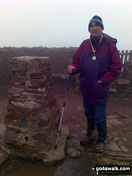 On Pen-y-ghent summit