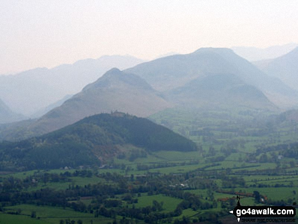 Cat Bells (Catbells) from the summit of Dodd (Skiddaw)
