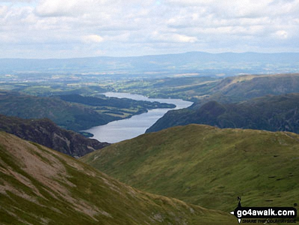 Birkhouse Moor with Ullswater beyond from Helvellyn